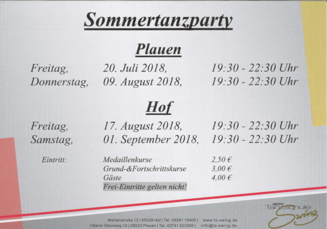 Sommertanzparty